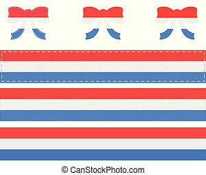 Luxembourgian flag on ribbon and bow
