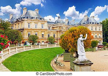 luxemburgo, garden(jardin, du, luxembourg), en, parís, francia