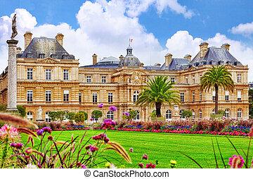 luxemburgo, palacio, en, parís, france.