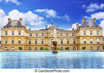 luxemburgo, palase, en, parís, france.