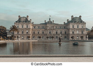 luxemburgo, palase, en, parís, francia