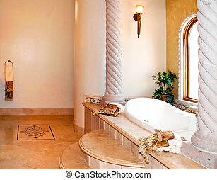 luxo, banheiro