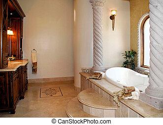 luxo, banho