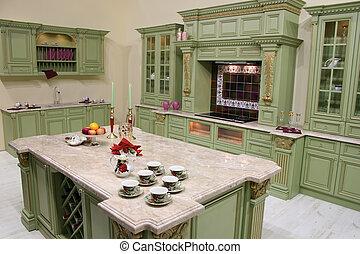 luxo, cozinha