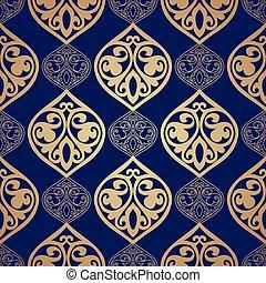 luxo, damasco, seamless, motivo, ., vetorial