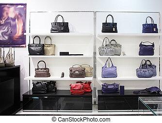 luxo, europeu, saco, loja