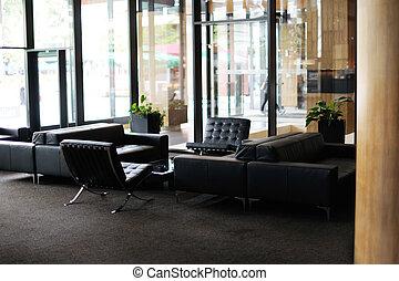 luxo, lobby hotel