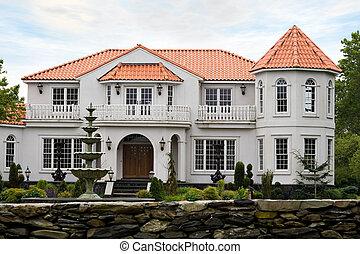 luxo, mansão