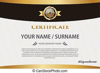 luxo, modelo, certificado, diploma, ilustração, vetorial, desenho, padrão