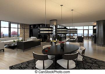 luxo, penthouse