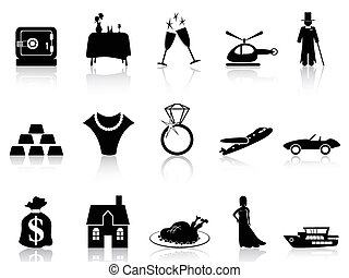 luxo, riqueza, ícone