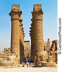 luxor., 寺院, ルクソール, エジプト, amun