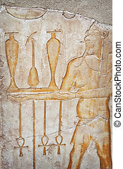 Luxor carving - Image of hieroglyphs from the temple of...