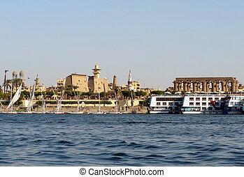 Luxor, Nile, Egypt - In Luxor (Egypt) antiquity mingled with...