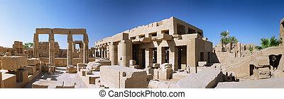luxor, panorama, egypt., karnak, templo