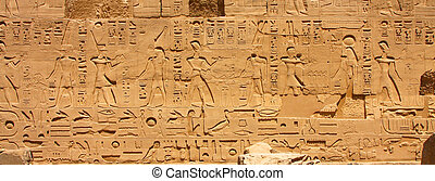 A photography of an old historic place in Luxor Egypt Hieroglyphic