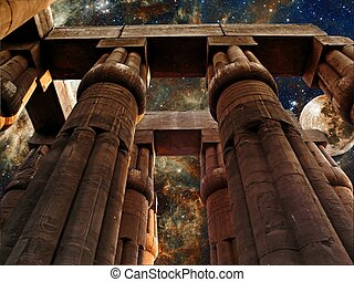 Luxor Temple, Moon and Tarantula Nebula (Elements of this...