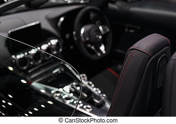 luxuary, 自動車, concept., フォーカス, バックグラウンド。, 精選する, デザイン, 背景, 内部, スポーツ, 極度, supercar