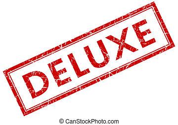 luxueus, rode plein, postzegel, vrijstaand, op wit, achtergrond