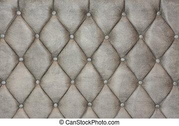 luxueus, zilver, textuur, leder