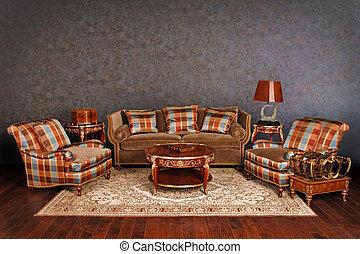 luxueux, meubles