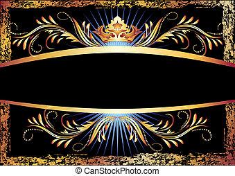 luxuoso, cobre, ornamento, e, coroa