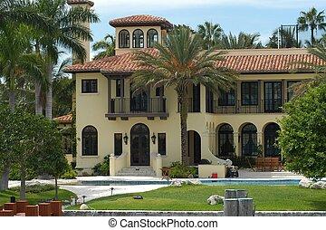 luxuoso, mansão