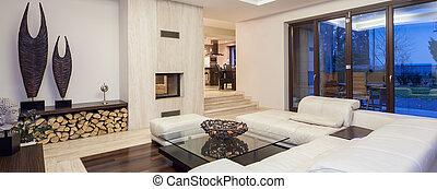 luxuoso, sala de estar