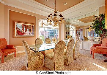Luxuriant bright dining room