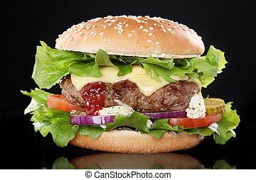 luxuriante, hamburger