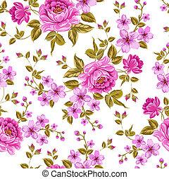 luxurious, 색, 작약, pattern.