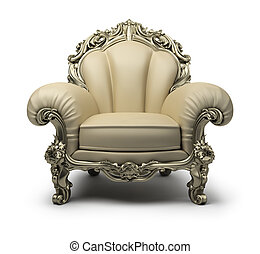 luxurious armchair - Luxury armchair of beige colour, with a...