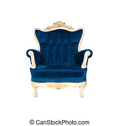 Luxurious armchair with clipng part