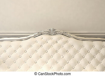 Luxurious back of sofa. Baroque interior