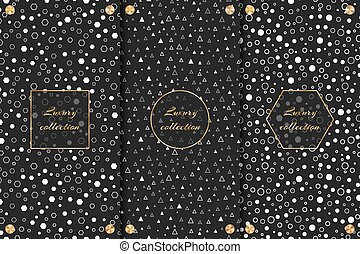Luxurious backgrounds with geometric pattern - A set of...
