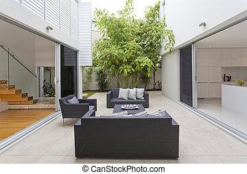 Luxurious backyard