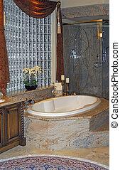 luxurious bathroom - beautiful master bath made with granite...