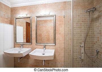 Luxurious bathroom in new design