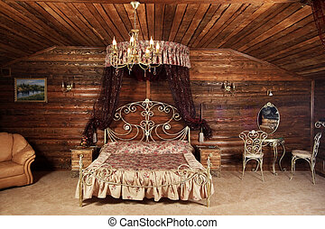 Luxurious bed - Beautiful and luxurious bed in a bedroom ...