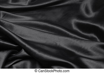 luxurious black satin background close up