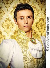 luxurious costume - Portrait of a handsome man ballet dancer...