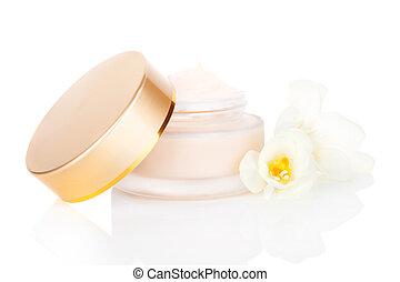 Luxurious cream. Cosmetics. - Luxurious cosmetic background....
