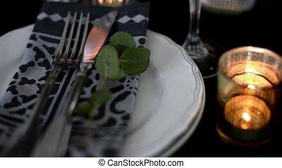 Luxurious festive table setting