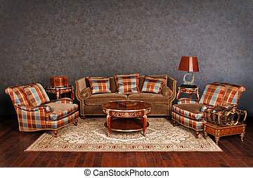 Luxurious furniture - Luxurious royal sitting area with...