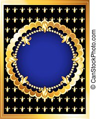 Luxurious gold card - Vintage posh gold frame card, royal...