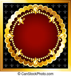 Beautiful vintage look gold frames with rich dark red velvet, perfect luxurious background for your text or advertisement.