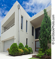 Luxurious house - Luxurious modern multilevel house front