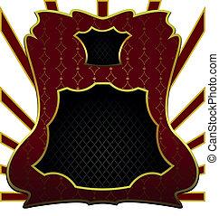 Luxurious illustration the decorative emblem form