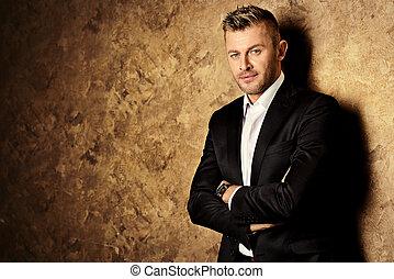 luxurious man - Portrait of a handsome mature man in elegant...