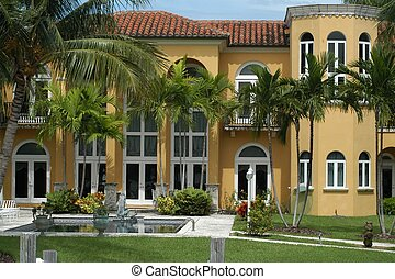 Luxurious mansion in Miami Beach, Florida